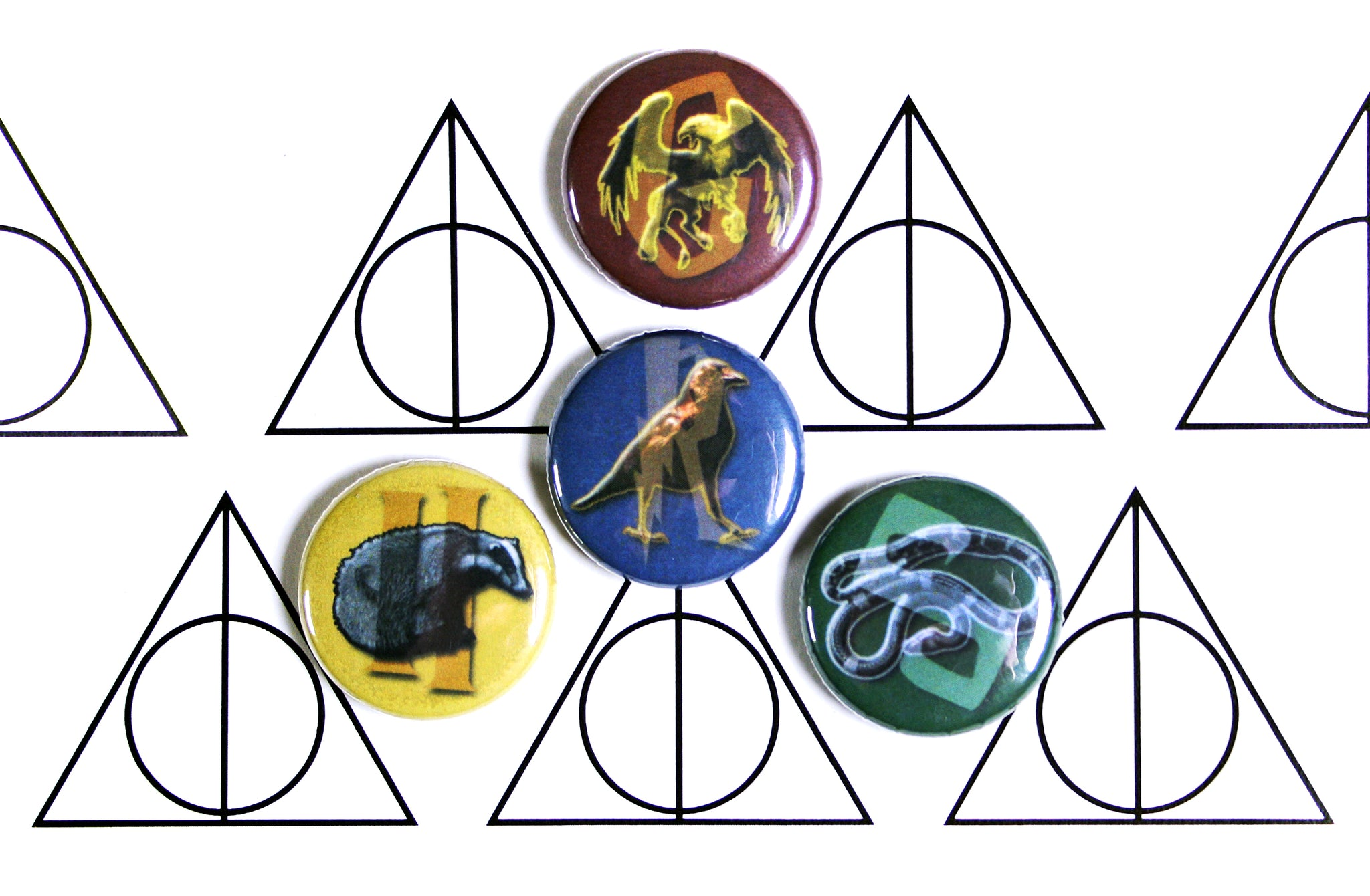 custom harry potter hogwarts house buttons