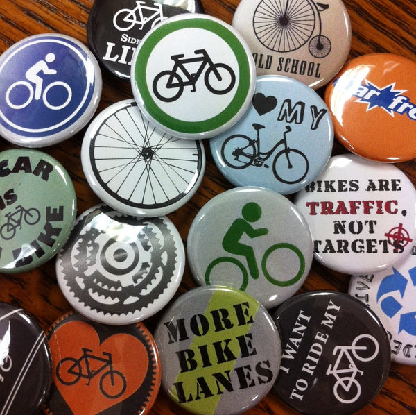 Custom bike buttons