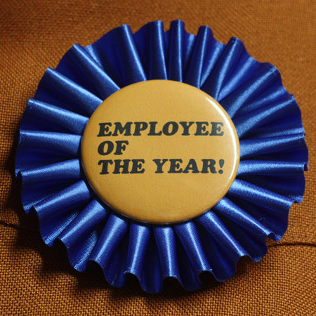 employee award buttons, employee award rosette
