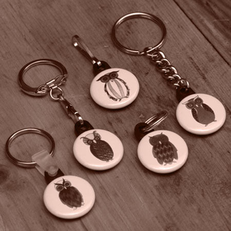1 inch button parts, keyring versabacks