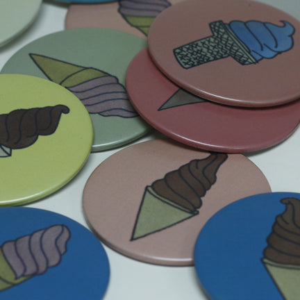 Custom Mirrors, Matte Buttons, Pinback-Button Parts