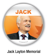 jack layton memorial buttons