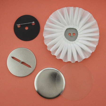 prong back button parts, rosette