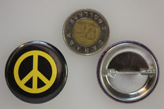 Peace Button showing Pin-Back