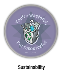 sustainability buttons
