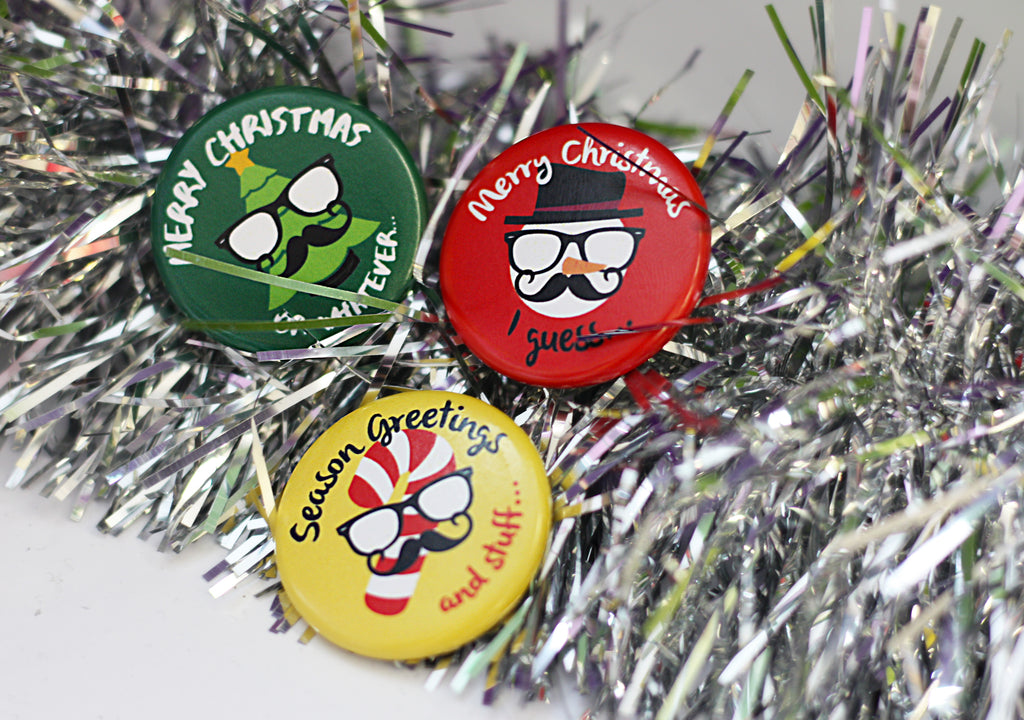 holiday buttons hipster