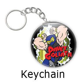 Davey Goliath Comic key chains by Mike Gagnon on People Power Press