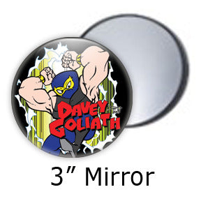 Davey Goliath Comic pocket mirrors by Mike Gagnon on People Power Press