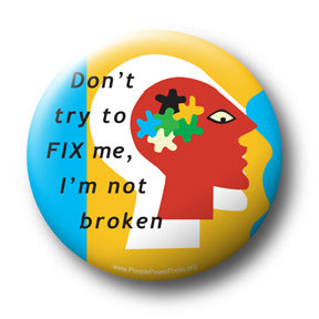 mental health awareness button design