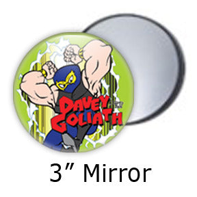 Davey Goliath pocket mirrors by Mike Gagnon on People Power Press