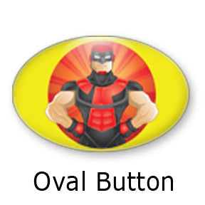 Enigma Heroized oval buttons and fridge magnets by Mike Gagnon on People Power Press