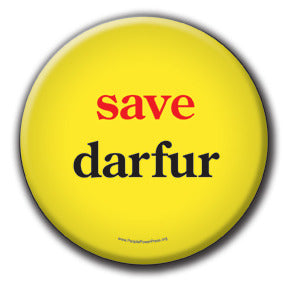 Save Darfur - Fundraising Buttons - yellow