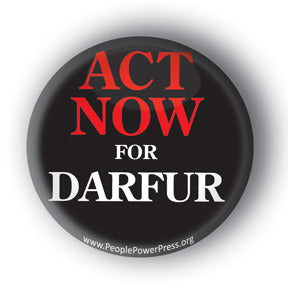 Act Now For Darfur - Button/Magnet