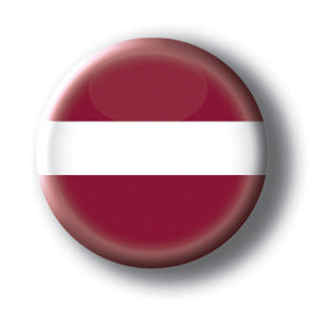 Latvia - Flags of the World Button/Magnet