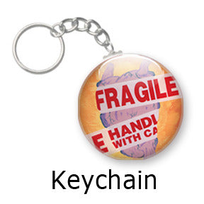 Fragile heart key chains by Mike Gagnon on People Power Press