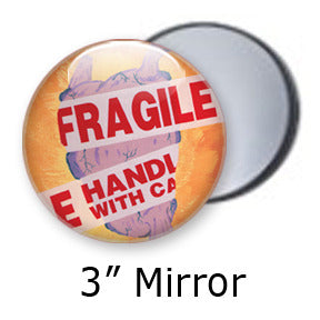 Fragile heart pocket mirrors by Mike Gagnon on People Power Press