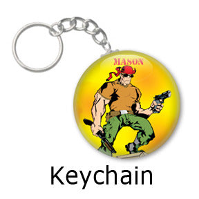 Mason Comic key chains by Mike Gagnon on People Power Press