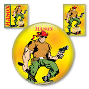 Mason Comic buttons by Mike Gagnon on People Power Press