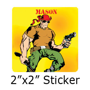 Mason Comic stickers by Mike Gagnon on People Power Press