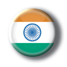 India - Flags of The World Button/Magnet