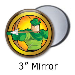 Robin Hood Heroized pocket mirrors by Mike Gagnon on People Power Press