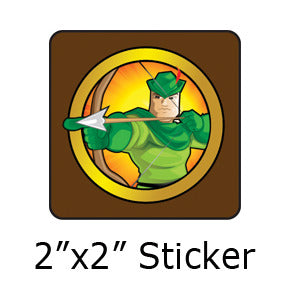 Robin Hood Heroized stickers by Mike Gagnon on People Power Press