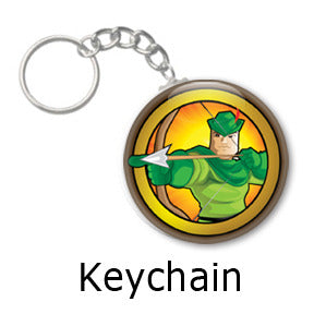 Robin Hood Heroized key chains by Mike Gagnon on People Power Press