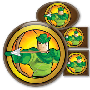 Robin Hood Heroized buttons by Mike Gagnon on People Power Press