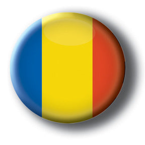 Romania - Flags of The World Button/Magnet