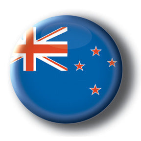 New Zealand - Flags of The World Button/Magnet