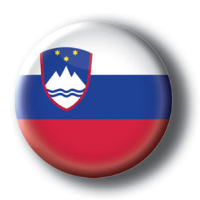 Slovenia - Flags of The World Button/Magnet