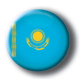 Kazakhstan - Flags of The World Button/Magnet