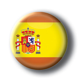 Spain - Flags of The World Button/Magnet