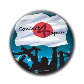 Concert 4 Japan - Fundraising Buttons