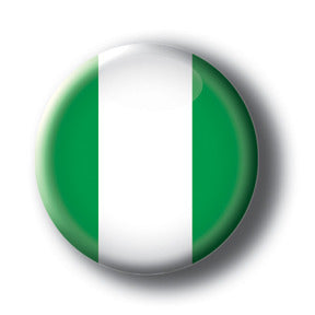 Nigeria - Flags of The World Button/Magnet