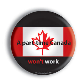 Part-time Canada custom button design