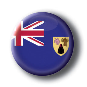 Turks and Caicos Islands - Flags of The World Button/Magnet
