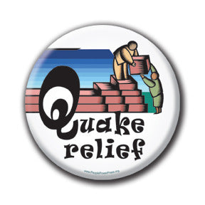 Quake Relief - Fundraising Buttons