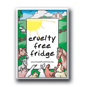 Cruelty Free Fridge - Farm Button/Magnet