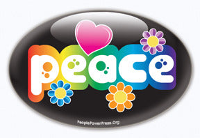 peace 60's style button design, beatnik design, sixties look