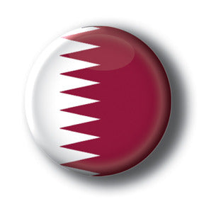 Qatar - Flags of The World Button/Magnet