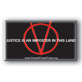 Justice Is An Imposter In This Land - V For Vendetta