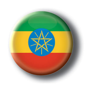 Ethiopia - Flags of The World Button/Magnet
