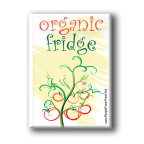 Organic Fridge Button/Magnet - Tomatoes