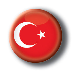 Turkey - Flags of The World Button/Magnet