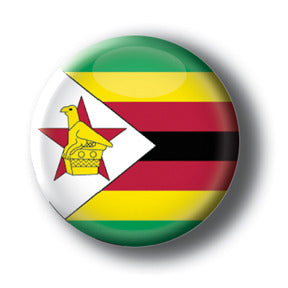 Zimbabwe - Flags of The World Button/Magnet