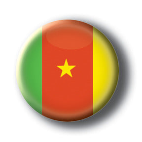 Cameroon - Flags of The World Button/Magnet