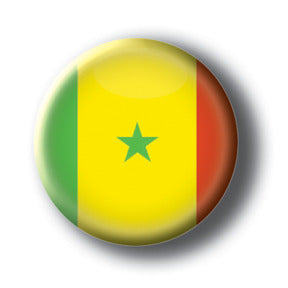Senegal - Flags of The World Button/Magnet