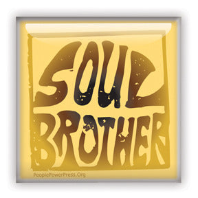 Soul Brother Button/Magnet - Yellow Square