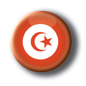 Tunisia - Flags of The World Button/Magnet